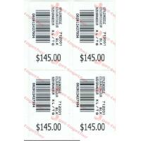Buy cheap Bar code labels Environmental Promotional Removable Plastic Custom Adhesive product