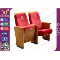 China High-end Red Fabric Auditorium Chairs With Folded Writing Tablet on sale