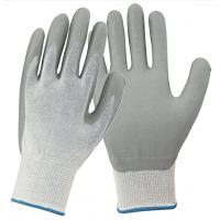 Buy cheap Soft Nitrile Coated Work Gloves Jersey Liner Resistant To Grease / Oils from wholesalers