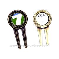 Buy cheap silver, Antique silver lating Finish Zinc Alloy Golf Divot Tool casting & polishing Custom Ball Markers from wholesalers