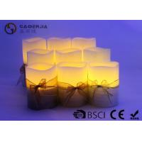3pk LED candle Flameless Candle Christmas candle painting with silkribbon