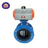 Buy cheap Factory Direct Sale Pneumatic Actuated Flange Type Butterfly Valve from wholesalers