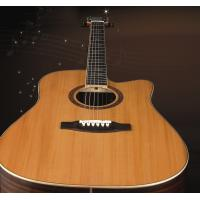 Wholesale 41inch OEM  High-end whole solidwood vintage cutaway electric acoustic guitar/western guitar steel string sale-TP-AG519 from china suppliers