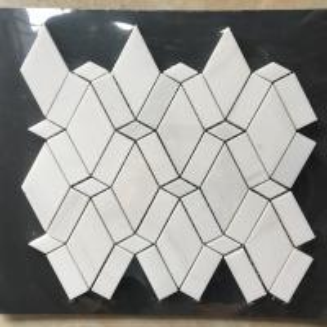 China White Diamond Dolomite Nature Stone Mosaic Tile For Kitchen Backsplash on sale