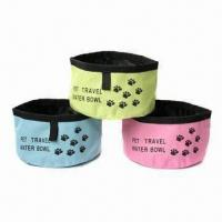 Wholesale Foldable Dog Travel Bowl, Folds Flat for Easy Storage, Portable, Great for Travel Use from china suppliers