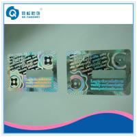 Buy cheap 3D Holographic Anti-counterfeit abel With Coating / Custom Hologram Stickers With Coating from wholesalers