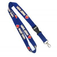 Buy cheap Adjustable Flat Polyester Lanyards Blue from wholesalers