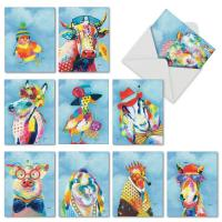 Buy cheap Cartoon Animal Custom Made Greeting Cards Lovely Color Printing Cover For Children from wholesalers