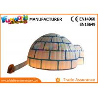 Wholesale PVC Coated Nylon Blow Up Dome Tent Marquee / Inflatable Igloo With LED Lighting from china suppliers