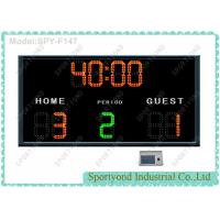 Buy cheap Remote Futsal Courts Electronic Football Scoreboard , Soccer Scores Timer from wholesalers