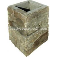 Wholesale Villa Marble Planter DIY Sizes Gray and Yellow from china suppliers