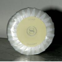 Buy cheap Promotional gift Logo sticker Round soap of restaurant, Spa and Hotel Shampoos and Soaps from wholesalers