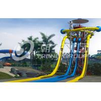 Buy cheap Large Fiberglass Water Slides Equipment , Garden Water Slide For 4 Guests Per Time from wholesalers