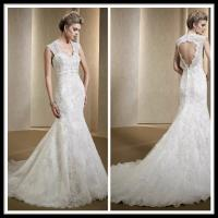 Buy cheap Vintage Romantic Lace Wedding Gowns , Mermaid Dresses Open Back Bridal Gowns from wholesalers