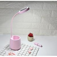 Buy cheap LED table lamp with mirror, pen holder & optional fan, clip type from wholesalers