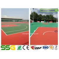 Multifunctional Outdoor Basketball Court Badminton Court Silicon PU Surface Materials Manufactures