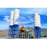 Wholesale HZS50 Skip Bucket Stationary Concrete Batching Plant For Construction from china suppliers