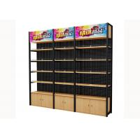 Wholesale Cold Rolled Steel Supermarket Shelving Wood Gondola Shelving Classic Style from china suppliers