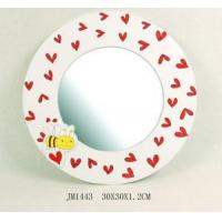 Buy cheap Wooden Heart Round Wall Mirror (JM1433) from wholesalers