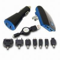 Buy cheap Dual USB Charger Kit with 100 to 240V AC/12 to 24V DC Input Voltage and 1 to 2A Charging Rate from wholesalers