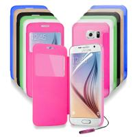 Windows S - view Battery flip cell phone cases For Samsung Galaxy S6 G9200