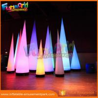 Wholesale 3m Height Oxford Inflatable LED Lighting Cone For Event / Party Decoration from china suppliers