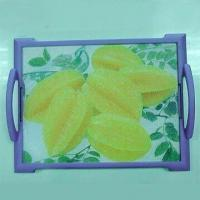Buy cheap Glass Cutting Board with PE Handle and Frame from wholesalers