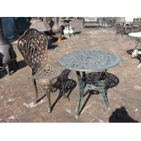 China Antique Cast Iron Patio Set Table Chairs Garden Furniture Erosion Resistance on sale