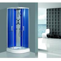 Wholesale Framed Clear Corner Glass Shower Enclosure Sandblasted Blue Back Aluminum Panel from china suppliers