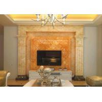 Buy cheap Fashionable Design Honey Onyx Slab , Orange Onyx Marble For TV Background product