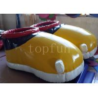Yellow PVC Inflatable Shoes For Walking Race Interesting Inflatable Soccer Field Manufactures
