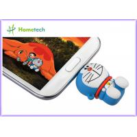 Buy cheap Rubber PC / Android OS Cell Phone USB Flash Drive , PVC OTG Thumb Drive Pink Green from wholesalers