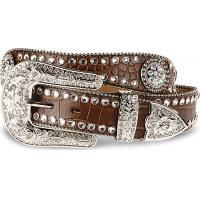 Buy cheap cowgirl's crystal waist belts in copy leather from wholesalers