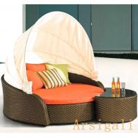 Buy cheap European style outdoor pe rattan daybed Arsigali AWL002 from wholesalers