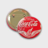 Buy cheap Red Coca-Cola Soda Advertising Tin Badge button 5.8cm from wholesalers