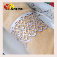 Buy cheap Table filigree napkin rings For wedding , Paper Napkin Bands For Wedding from wholesalers