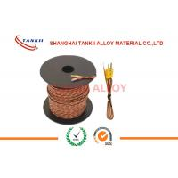Buy cheap 20 AWG 24 AWG brown color Thermocouple Extension Wire / Cable Type K J T E S With 2 Core Unscreened Teflon Sheath from wholesalers