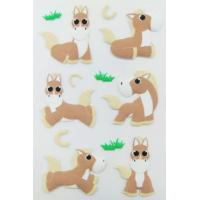 farm Animal custom PET Puffy horse Stickers For Kids Personalized Manufactures