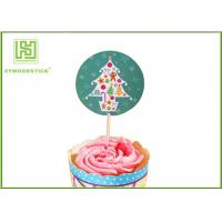 Buy cheap Holiday Chocolate Cake Decoration Toppers Christmas Cupcake Picks CMYK Colors from wholesalers