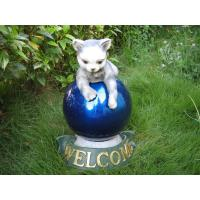 Buy cheap Cat   shape brilliant  Gazing Ball Stands  Holders Combo with  Quality Cast Stone   from wholesalers