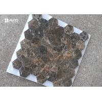 Buy cheap Seamless Dark Emperador Marble Mosaic Wall Tile For Decoration 42 Pcs Sheet product