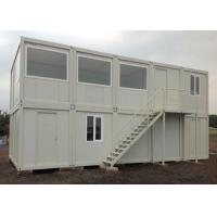 China Stable Prefabricated Container Homes Sliding Window With Light Gray PVC Flooring on sale