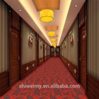 Buy cheap Red leaves pattern pp carpet for luxury hotel corridor from wholesalers