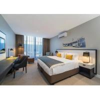 Buy cheap King Size Modern Hotel Bedroom Furniture Custom Living Room Suite Wooden Furniture Set product