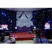 Buy cheap Fireproof Velvet LED Star Cloth Curtain Events Background Stage Decor from wholesalers