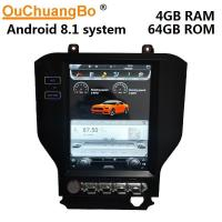 China Ouchuangbo Tesla style 10.4 car audio gps radio android 8.1 for Ford mustang 2015-2018 stereo PX6 4GB+64GB on sale