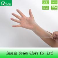 Clear Disposable Vinyl Glove medium powder free Synthetic PVC glove Manufactures