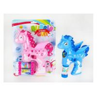 Buy cheap Eco Friendly Pink Children's Play Toys , Horse Crazy Dog Battery Operated Bubble Gun from wholesalers