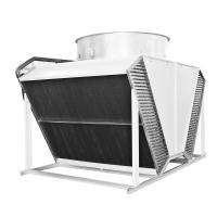 Buy cheap copper tube heat exchanger radiators air flow fin fan dry cooler for HVAC industry from wholesalers