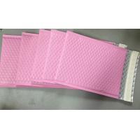 Buy cheap Custom Aluminum Foil Pink Metallic Bubble Envelope Moisture Proof product